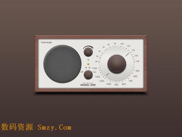 收音机按钮操作界面设计psd素材