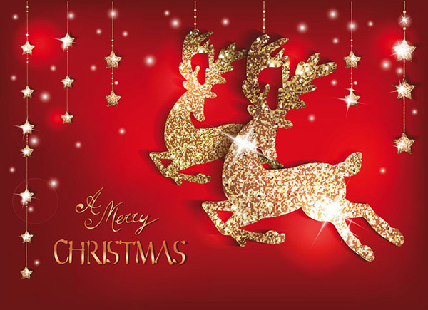 圣诞节图片素材又快要到紧张的下载时刻了,很多关于圣诞的元素都开始被设计被展示,2015圣诞节金色麋鹿背景海报矢量素材就是展示这种节日类型素材,用户金色来展示麋鹿的图案背景,红色底色加上金色星星的搭配,详细还请见JPG缩略图,喜欢可以点击下载收藏!