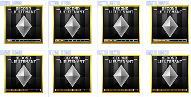 游戏中的一种军衔标志,   cf穿越火线游戏少尉图标素材   展示高清图片