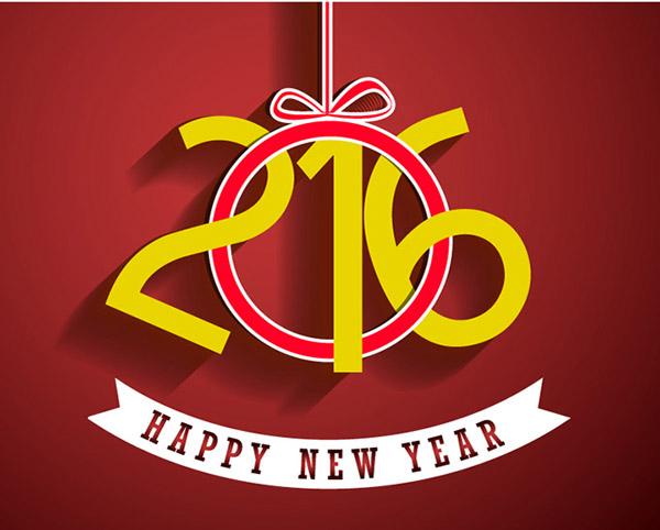2016紧紧是一组数字,也是即将到来的年份代号,新年就要有新的设计背景,2016新年快乐创意艺术字设计矢量素材创意的将数字中的当做了项圈套进了216三个数字,详细还请见JPG缩略图,喜欢可以点击下载收藏!