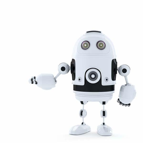可爱3d机器人背景高清图片