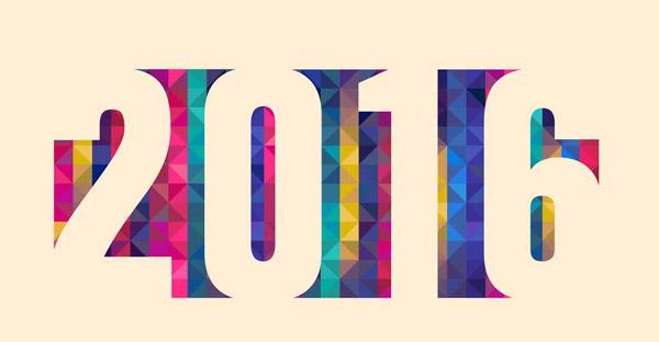 几何彩色图形2016创意数字设计矢量素材