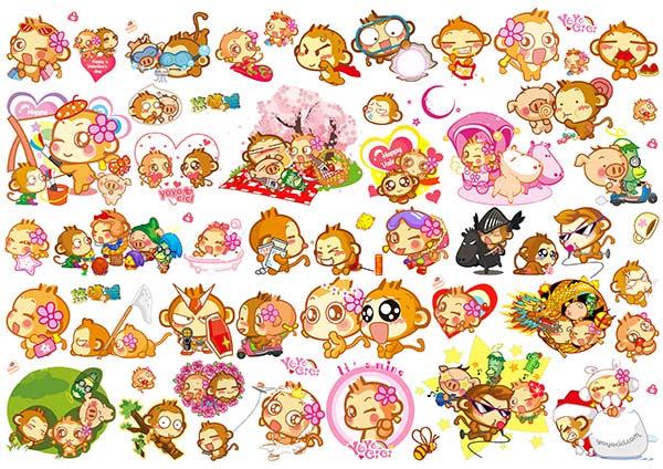 卡通猴子图片大全可爱psd素材