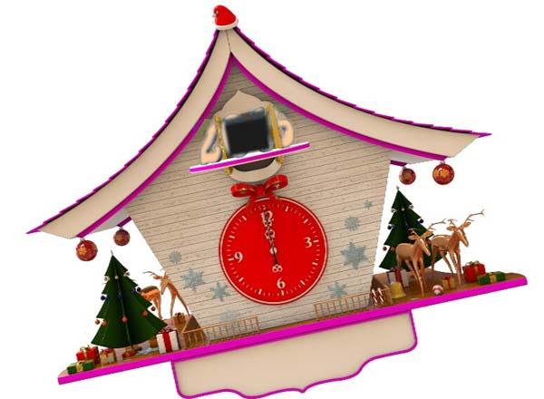 新年倒计时欧式大钟的图片