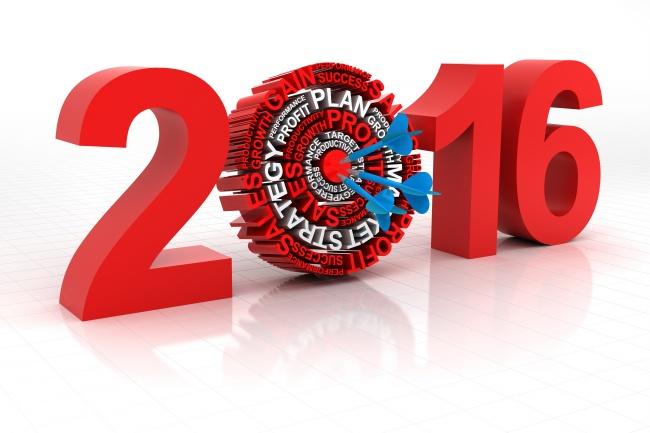 数字2016新年圆盘背景高清图片