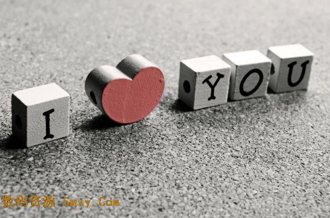 黑白非主流爱情love字样高清图片