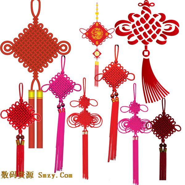 中国传统装饰工艺品中国结PSD素材下载图片