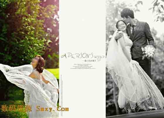 模板婚纱摄影模板一个人的夏天模板婚纱照设计模板