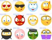 卡通小黄脸搞怪表情图标素材