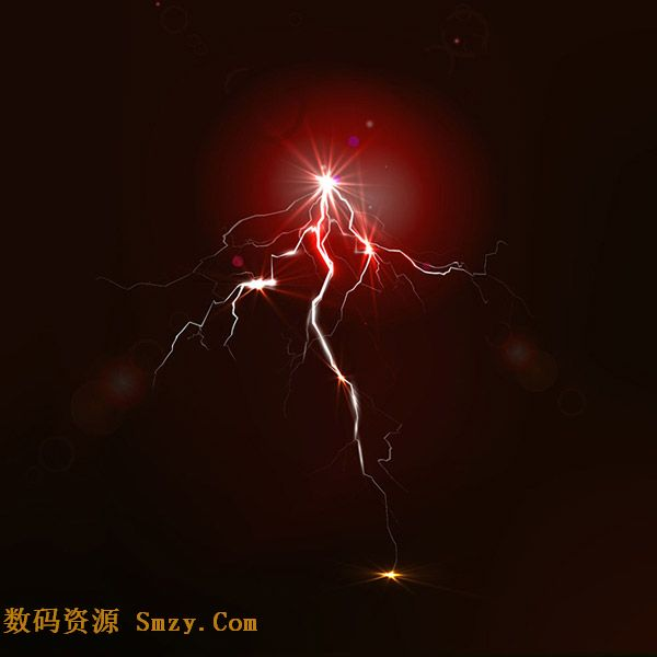 精美闪电效果光效背景矢量素材