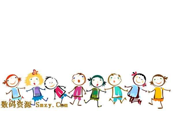 彩绘儿童人物牵手六一儿童节插画矢量素材下载  小孩子们的世界很简单