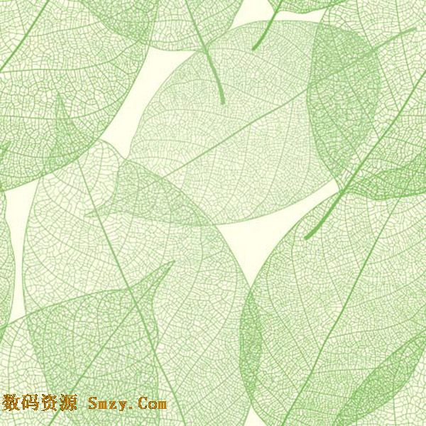 时尚绿叶底纹叠加背景矢量素材