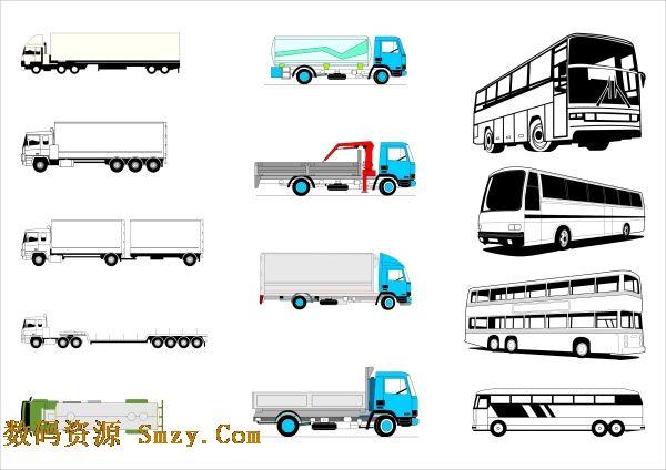 公交车,货车半挂、挂车,大巴车辆等车辆都属于交通工具,也属于大型车辆类型,这张车辆标志图片大全汇集了多种车的侧面展示,大型车辆图标设计矢量素材用平面的方法展示了车辆的特点,详见如下JPG缩略图,喜欢可以点击下载收藏!