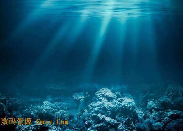 蓝色海底世界背景高清图片