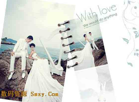 婚纱摄影模板 为爱什么都愿意 6下载