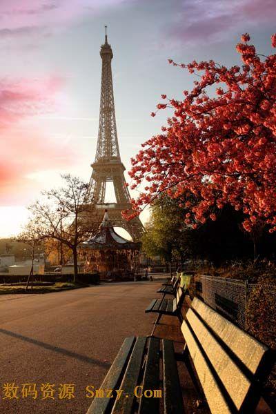 埃菲尔铁塔图片素材 巴黎埃菲尔铁塔唯美背景高清图片下载 4158x6236图片