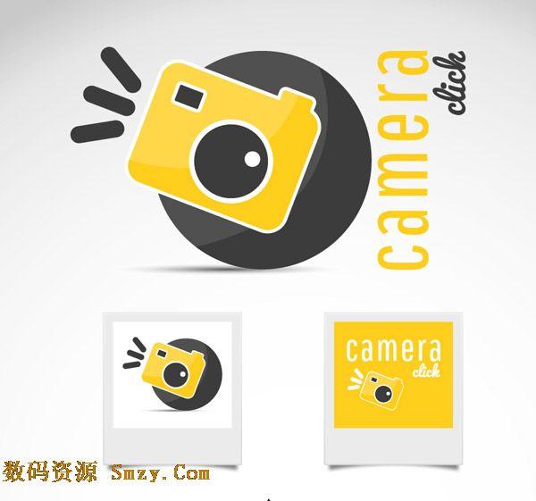 相机图标素材 创意卡通相机图标设计矢量素材