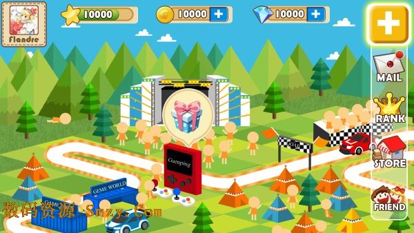 卡通手机农场游戏界面设计psd素材