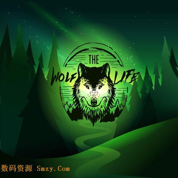 背景矢量素材下载  小伙伴都知道狼图腾的故事,也都了解狼这种动物