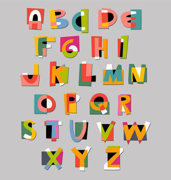 创意拼接字母设计艺术字体 的软件界面