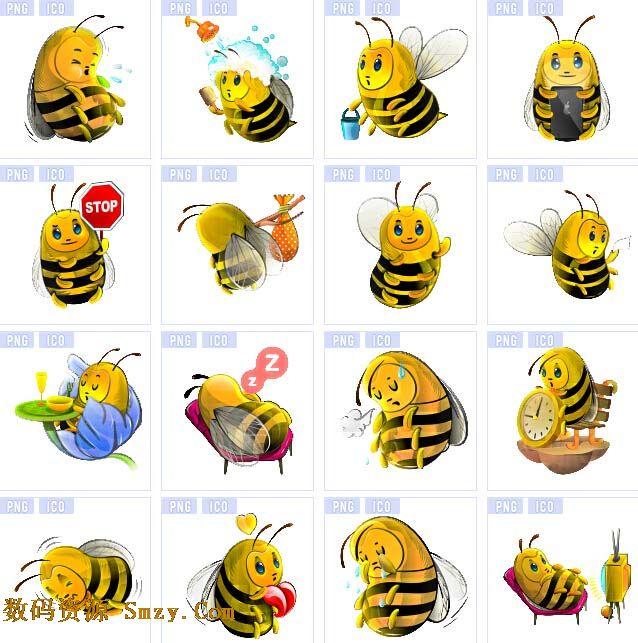 首页 资源下载 平面素材 图标素材 动物植物 > 可爱昆虫蜜蜂系列图标