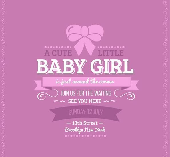 欢迎宝宝迎婴派对海报设计矢量素材