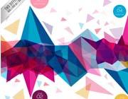 彩色几何图形方块背景设计矢量素材