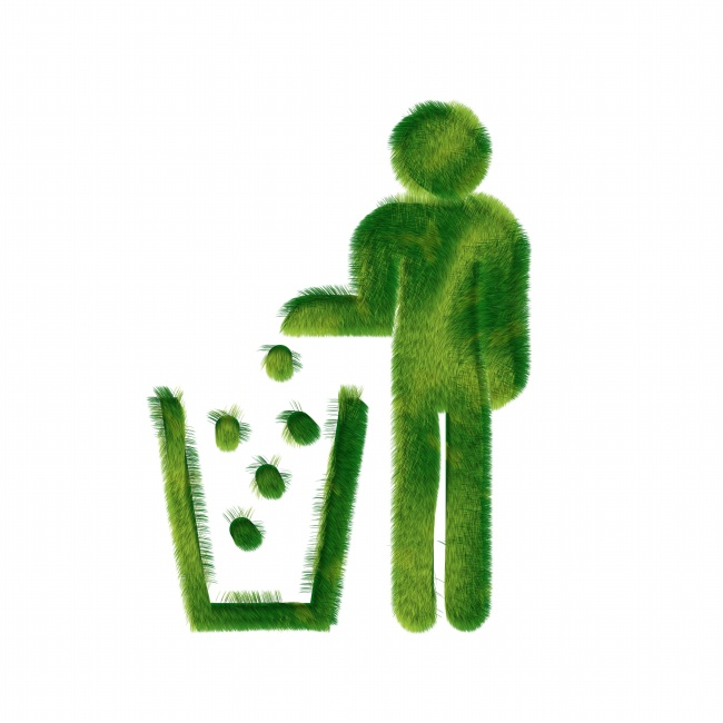 还有回收的垃圾箱标志