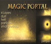 金色魔幻粒子动画AE模板素材