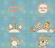 清新可爱的圣诞节卡通动画AE工程文件