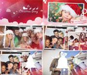 红色圣诞节欢乐开场片头AE模板