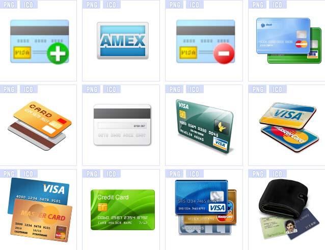 多种版面信用卡设计图标素材