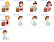 女性办公图片设计系统图标素材