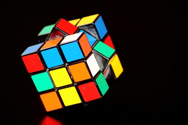 彩色正方体魔术方块魔方高清图片