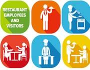 厨师餐厅人物图示图标素材