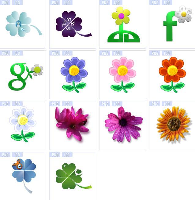 小清新花朵图标素材,具体详细还请见jpg缩略图,喜欢可以点击下载收藏!图片