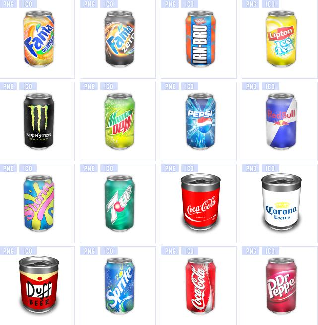 易拉罐饮料瓶图标素材