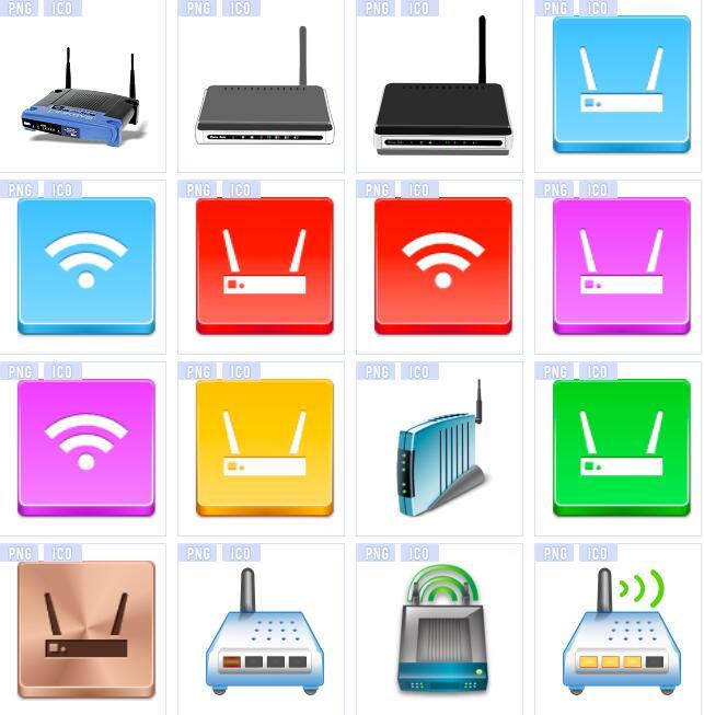 无线路由器wifi信号图标素材下载图片