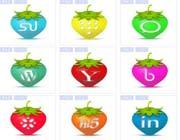 特色字母彩色草莓图标素材