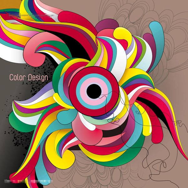 首页 资源下载 平面素材 矢量素材 设计 > 潮流抽象色彩缤纷图案设计图片