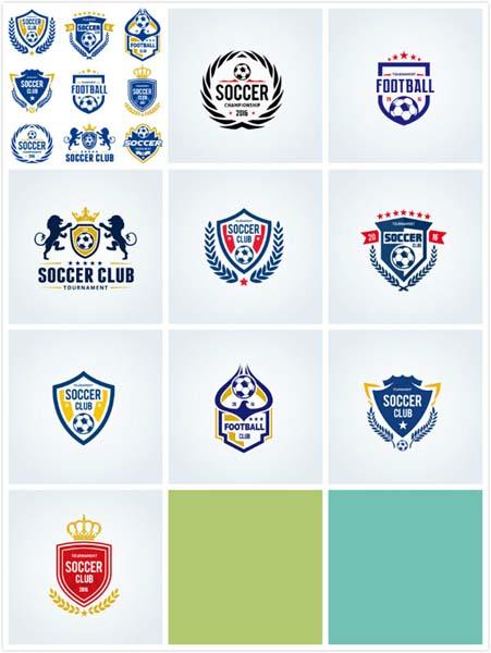 足球标识矢量图