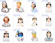 护士人物肖像图片图标素材