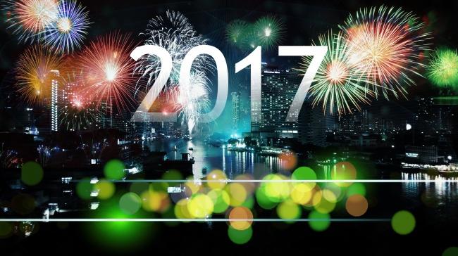 2017新年数字设计背景高清图片