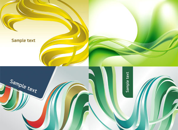 科技展示效果, 动感彩色线条流线背景设计矢量素材用