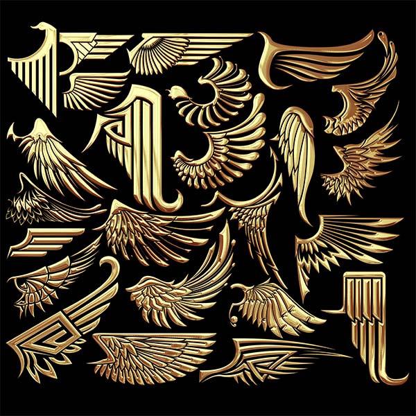 翅膀不仅仅是拥有洁白色羽毛的天使翅膀,金属质感翅膀设计背景psd素材带你领略不一样的金属翅膀,图中有是多款形象不一的翅膀,有张开的,有收拢的,有平行的,更有几款设计的非常霸气,强烈的金属质感扑面而来,详情请见下方JPG缩略图,喜欢可以点击收藏!