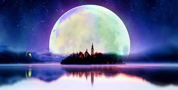 月亮花边边框简单漂亮图片大全