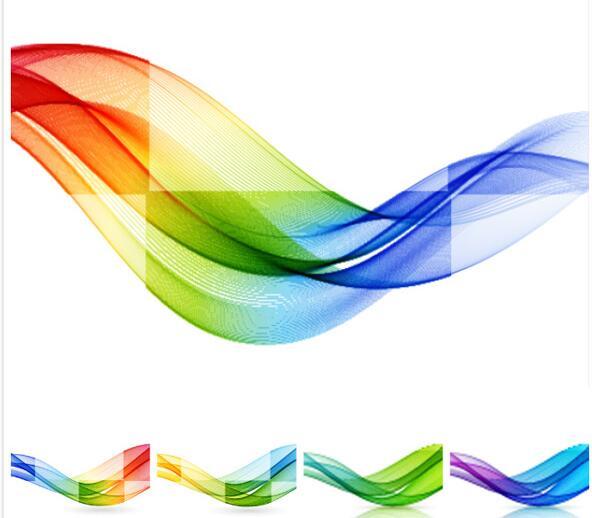 炫彩渐变颜色线条背景设计矢量素材