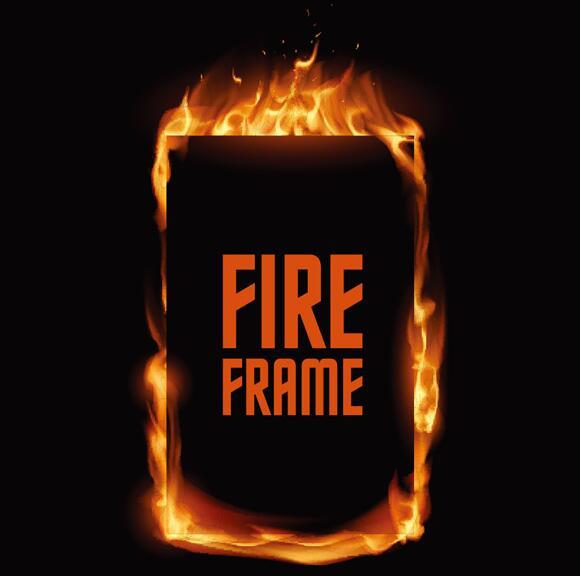 创意震撼火焰边框设计矢量素材