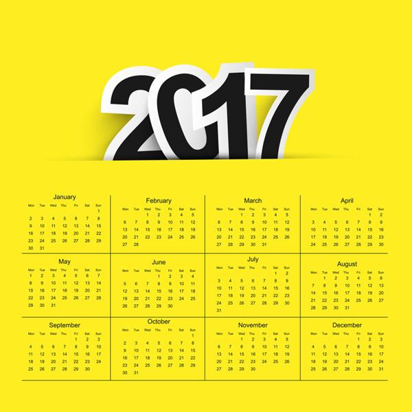2017年背景日历设计背景矢量素材