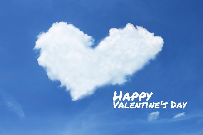 情人节创意爱心白云蓝天背景高清图片图片